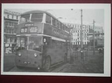 POSTCARD TRAMS OF MANCHESTER - PICCADILLY (1955) TROLLEY BUS ON MOSLEY ST ROUTE