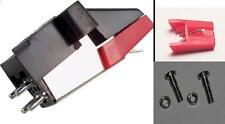 Stereo Moving Magnetic Cartridge with 2 Styli Stylus + Aluminium Fitting Screws