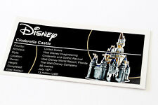 Lego Creator UCS Sticker for Disney Castle 71040