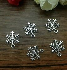 Wholesale 10 pcs Tibet silver Snowflake Charm Pendant beaded Jewelry Findings