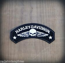 Harley Davidson Authentic Patch - Willie G Skull Rocker - Medium Emblem Badge