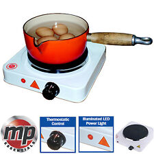 MP Essentials Camping Portable Home Electric Single Cooking Stove Hot Plate Hob