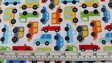 TRAFFIC JAM TRANSPORT CARS TRUCKS BUS MICHAEL MILLER COTTON QUILT FABRIC