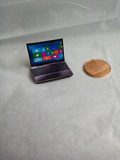 Dolls house 1/12th scale miniature laptop