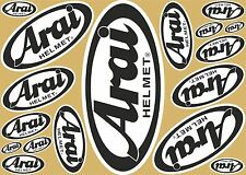 Arai decal decals set 17 quality printed helmet stickers FREE Sticker Decal
