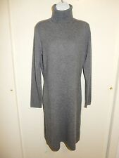 BARROW & GROVE 100% CASHMERE GRAY TURTLENECK LONG SLEEVES PENCIL DRESS SWEATER M