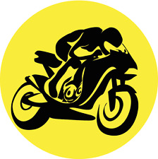 "Motorcycle Silhouette Moto Bike Sport Car Bumper Sticker Decal 5"" x 5"""