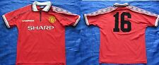 MANCHESTER UNITED home shirt  UMBRO 1998-2000  SIZE Y Youth XL.BOYS ( XS adults)