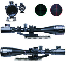 6-24x50 Hunting Rifle Scope Mil-dot illuminated Snipe Scope & Red Laser Sight