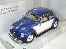 "Volkswagen Beetle Blue Die Cast Metal Model Car Large 7"" Kinsmart Collectable"