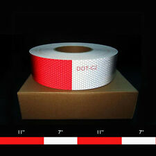 "2"" x 150' DOT c-2 Reflective Conspicuity Tape 11"" Red - 7"" White - 10 Year"