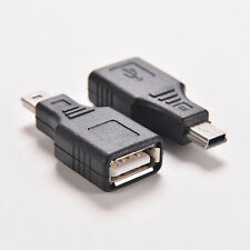 2X Network USB 2.0 A Female to Mini USB B 5 Pin Male Cord Cable Hub Adapters R
