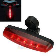 New Cycling Bike Bicycle Super Bright Red 5 LED Rear Tail Light 8 Modes Lam