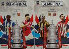 FA CUP SEMI FINAL 2014: Set of BOTH official programmes