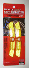 Yellow Bicycle Light Reflector For Wheels Spokes Brand New