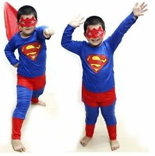 Superman Big Costume Fancy Dress Suit & Eye Mask for Kids (5-7 yr) Gift Cloth