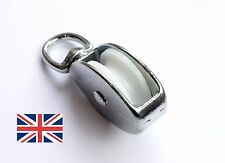 40mm Single Pulley Block Swivel Eye Zinc for rope up to 9mm ideal for sailing
