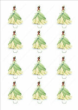 Novelty Princess Tiana Edible Cake Cupcake Toppers Decorations Birthday Girl