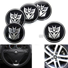 5pcs Car Rim Center Steering Wheel Hub Cap Decal Sticker Transformers Decepticon