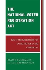 THE NATIONAL VOTER REGISTRATION ACT - NEW PRE-LOADED AUDIO PLAYER BOOK