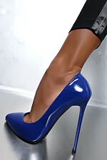 1969 Pumps 14 cm Sexy blue blau fetish sky high heels 43 42 nib