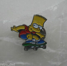 The Simpsons BART SIMPSON Skateboard NEW Vintage Enamel METAL PIN BADGE Pins FUN