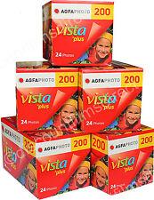 5 x AGFA VISTA 200 35mm 24exp COLOUR PRINT CAMERA FILM for SLR cameras/lomo