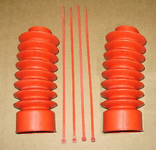 """Red Fork Boots Gaiters for 41mm Tubes 230mm 9"""" Long fits Harley Softail"""