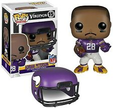 "Funko POP NFL #15 Wave 1: ADRIAN PETERSON Figure 3.75"" Minnesota Vikings #28 NIP"