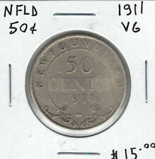 Canada Newfoundland NFLD 1911 50 Cents VG