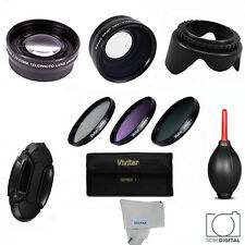 58mm HD 3 LENS +FILTER KIT + FOR CANON EOS REBEL AND  PENTAX DSLR CAMERAS