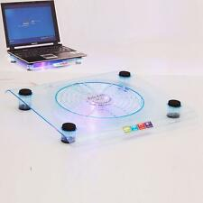 "18cm Big Fan USB Blue LED Light Laptop Cooling Pad Notebook 14.1"" to 15.4"""