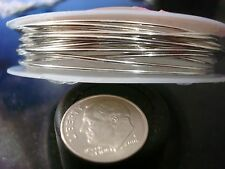 1mm Silver plated copper round wire 18ga create wire wrapped jewelry 8.2' pw007