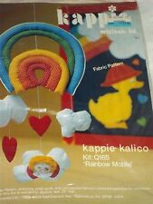 Rainbow Mobile for baby's room - Kappie Kit Q165 Complete Kit with Fabrics