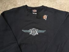 Harley Davidson embroidered logo Sweatshirt Nwt Men's XXL