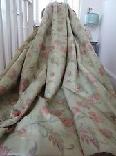 Beautiful CURTAINS woven BROCADE on echo DAMASK shabby COTTAGE chic INTERLINED