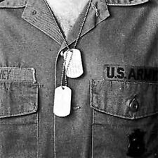 MILITARY DOG TAG G.I. ISSUE DULL STAINLESS STEEL stamped  W/GI MACHINE #1