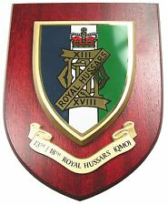 13TH 18TH ROYAL HUSSARS CLASSIC HAND MADE REGIMENTAL MESS PLAQUE