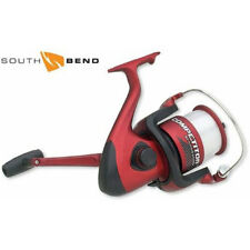South Bend Competitor Large Fixed Spool Spinning Fishing Reel - Red