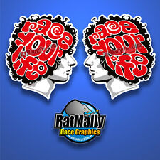 MARCO SIMONCELLI RACE YOUR LIFE STICKERS - 2x 200mm - MOTOGP *RATMALLY
