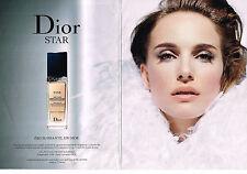 PUBLICITE ADVERTISING 114  2014   DIOR ( 2p)   cosmétiques NATALIE PORTMAN