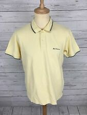 Mens Ben Sherman Polo Shirt - Large - Yellow - Great Condition