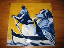 PORTUGAL PORTUGUESE PAULA REGO 1990s QUEEN & PIG CERAMIC TILE CARREAU FLIESE