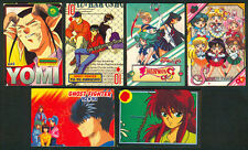 6 ANIME MANGA GHOST FIGHTER & SAILOR MOON Philippine TEKS / Trading Cards