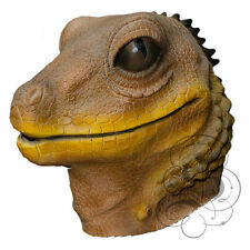 Latex Full Head Reptile Brown Lizard High Quality Fancy Dress Carnival Mask