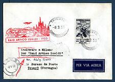 TRIESTE A - Raid Artico Lualdi (1953) su aer. affrancato con Mostra Alpini - MR