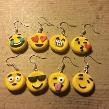 earrings Emoji ONE PAIR ONLY Drop Earrings Handmade Free Postage Fun Cute