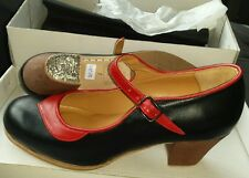 Flamenco Prof NEW US 6.5, Size 37 red/black Made in Spain