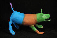 Paper Mache Dog Mexican Artist Folk Art Handmade/Painted Mexico Collectible #3