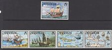 SHIPS: ANGUILLA 1973 Columbus set+MS SG159-63+MS164 n.h.mint se-tenant strip